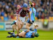 6 June 2015; Cyril Donnellan, Galway, in action against Michael Carton, Dublin. Leinster GAA Hurling Senior Championship Quarter-Final Replay, Dublin v Galway. O'Connor Park, Tullamore, Co. Offaly. Picture credit: Piaras Ó Mídheach / SPORTSFILE