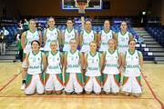 6 September 2008; The Ireland team. Senior Women's Basketball European Championship - Division B - Group A - Ireland v Iceland, National Basketball Arena, Tallaght, Dublin. Picture credit: Stephen McCarthy / SPORTSFILE