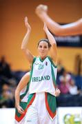 6 September 2008; Susan Moran, Ireland, celebrates her side's victory over Iceland. Senior Women's Basketball European Championship - Division B - Group A - Ireland v Iceland, National Basketball Arena, Tallaght, Dublin. Picture credit: Stephen McCarthy / SPORTSFILE