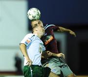 11 September 2008; John Lester, Galway United, in action against Andy Myler, Bray Wanderers. FAI Ford Cup Quarter-Final, Galway United v Bray Wanderers, Terryland Park, Galway. Picture credit: David Maher / SPORTSFILE