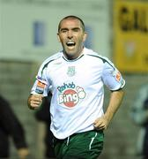 11 September 2008; Andy Myler, Bray Wanderers, celebrates after scoring his sides first goal to equalise the game at 1-1. FAI Ford Cup Quarter-Final, Galway United v Bray Wanderers, Terryland Park, Galway. Picture credit: David Maher / SPORTSFILE