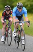 28 June 2015; Damien Shaw, Team ASEA, leads Eddie Dunbar, NFTO, during the Elite Men event at the National Road Race Cycling Championships. Omagh, Co. Tyrone. Picture credit: Stephen McMahon / SPORTSFILE