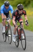 28 June 2015; Eddie Dunbar, NFTO, leads Damien Shaw, Team ASEA, during the Elite Men event at the National Road Race Cycling Championships. Omagh, Co. Tyrone. Picture credit: Stephen McMahon / SPORTSFILE