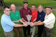 13 September 2008; Six winning GAA Clubs from Ulster, Munster, Leinster, Connacht, Chicago and New York battled it out for a chance to win an All-Ireland trophy at the 2008 FBD GAA Golf Challenge All-Ireland final which was held at Faithlegg Hotel and Golf Club in Waterford over the weekend. Pictured are the competing captains, from left, Martin Cahill, St. Brigids, Dublin, Eamonn Blake, Miltown, Co. Galway, Paddy Grelish, Wolfe Tones Chicago, Brendan Landers, Lismore, Co. Waterford, JJ O'Reilly, Cavan Gaels, and Kieran Keaveney, Roscommon GAA New York. Faithlegg House Hotel, Faithlegg, Co. Waterford. Picture credit: Pat Murphy / SPORTSFILE  *** Local Caption ***