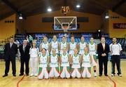 6 September 2008; The Ireland squad and managment. Senior Women's Basketball European Championship - Division B - Group A - Ireland v Iceland, National Basketball Arena, Tallaght, Dublin. Picture credit: Stephen McCarthy / SPORTSFILE