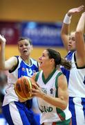6 September 2008; Susan Moran, Ireland, in action against Iceland. Senior Women's Basketball European Championship - Division B - Group A - Ireland v Iceland, National Basketball Arena, Tallaght, Dublin. Picture credit: Stephen McCarthy / SPORTSFILE