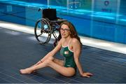 30 June 2015; In attendance at the announcement of the Paralympics Ireland team to compete in the Paralympic Swimming (IPC) World Championships in July is Ailbhe Kelly, Castleknock, Dublin. The six strong team to compete in Glasgow include Double paralympians Darragh McDonald and Ellen Keane, London Paralympians James Scully and Jonathan McGrath and first time World Championship swimmers Ailbhe Kelly and Nicole Turner. These Championships are also a key milestone on the road to Rio 2016 Paralympic Games qualification. National Aquatic Centre, Abbotstown, Dublin. Picture credit: Brendan Moran / SPORTSFILE