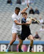 28 June 2015; Evan Comerford, Dublin, in action against Ethan O'Donoghue, Kildare. Electric Ireland Leinster GAA Football Minor Championship, Semi-Final, Dublin v Kildare. Croke Park, Dublin. Picture credit: Dáire Brennan / SPORTSFILE