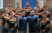 2 July 2015; Inter county players, from left, Padraic Mahony, Waterford, Ryan Lyons, Fermanagh, Cillian O'Connor, Mayo, Eanna Murphy, Wexford, Dara McVeety, Cavan, Paul Flynn, Dublin, Ciaran Clifford, Armagh, Mark Brennan, Carlow, Shane Morley, Mayo, Pat Hughes, Sligo, Jamie Clarke, Armagh, and John Egan, Westmeath, at the launch of the GPA's new 'Fair Play Campaign' designed to encourage and reward good behaviour by players on and off the field. Tailors' Hall, Back Lane, Dublin. Picture credit: Brendan Moran / SPORTSFILE