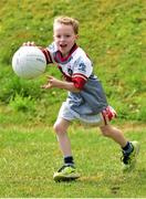 3 July 2015; Jack Kisney, 7, is pictured at the very first 'Kellogg's Powering Play' workshop, a new fun game based nutritional module that is being piloted by Kellogg's and the GAA this summer at selected Cúl Camps to help promote the benefits of physical activity and eating well. Cuala GAA Club, Dalkey, Co. Dublin. Picture credit: Cody Glenn / SPORTSFILE