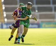 4 July 2015; Niamh Mulcahy, Limerick, in action against Stacey Kehoe, Wexford. Liberty Insurance Camogie Championship, Wexford v Limerick. Innovate Wexford Park, Wexford. Picture credit: Matt Browne / SPORTSFILE