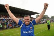 4 July 2015; Longford manager Jack Sheedy celebrates his side's victory. GAA Football All-Ireland Senior Championship, Round 2A, Clare v Longford. Cusack Park, Ennis, Co. Clare. Picture credit: Stephen McCarthy / SPORTSFILE