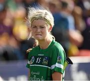 4 July 2015; Limerick's Aoife Sheehan after the game. Liberty Insurance Camogie Championship, Wexford v Limerick. Innovate Wexford Park, Wexford. Picture credit: Matt Browne / SPORTSFILE