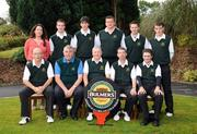 19 September 2008; Co. Sligo Golf Club who were defeated by Warrenpoint in the Semi-Final of the Bulmers Senior Cup, back row left to right, Orlaith Fortune, Marketing Manager Bulmers, Barry Anderson, Steffan O'Hara, David Dunne, Gary McDermottand Stephen Brady. Front row left to right, Seryth Heavey, Nicky Harte, Tom Gavin, Team Captain, Niall Burgess and Michael Durcan. Bulmers Senior Cup Semi-Final. Bulmers Cups and Shields Finals 2008, Monkstown Golf Club, Parkgarriff, Monkstown, Co. Cork. Picture credit: Ray McManus / SPORTSFILE