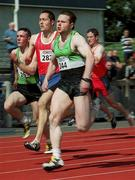 20 August 2000; John McAdorey of Ballymena Antrim AC, Antrim, in action in the Men's 100m heats during the National Track and Field Championships of Ireland at Morton Stadium in Dublin. Photo by Brendan Moran/Sportsfile