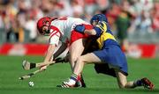 3 September 2000; Ciara Healy of Cork in action against Elaine Burke of Tipperary during the All-Ireland Senior Camogie Championship Final match between Cork and Tipperary at Croke Park in Dublin. Photo by Aoife Rice/Sportsfile