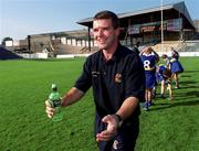 3 September 2000; Tipperary manager Michael Cleary celebrates after the All-Ireland Senior Camogie Championship Final match between Cork and Tipperary at Croke Park in Dublin. Photo by Brendan Moran/Sportsfile