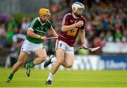 5 July 2015; Cormac Boyle, Westmeath, in action against Paul Browne, Limerick. GAA Hurling All-Ireland Senior Championship, Round 1, Westmeath v Limerick. Cusack Park, Mullingar, Co. Westmeath. Picture credit: Piaras Ó Mídheach / SPORTSFILE