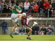 5 July 2015; Kevin Downes, Limerick, in action against Shane McGovern, Westmeath. GAA Hurling All-Ireland Senior Championship, Round 1, Westmeath v Limerick. Cusack Park, Mullingar, Co. Westmeath. Picture credit: Piaras Ó Mídheach / SPORTSFILE