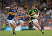 5 July 2015; Ronan Buckley, Kerry, in action against Mark Kehoe, Tipperary. Electric Ireland Munster GAA Football Minor Championship Final, Kerry v Tipperary. Fitzgerald Stadium, Killarney, Co. Kerry. Picture credit: Eoin Noonan / SPORTSFILE