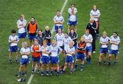 28 September 2008; Members of the Monaghan team watch the presentation. TG4 All-Ireland Ladies Senior Football Championship Final, Cork v Monaghan, Croke Park, Dublin. Picture credit: Ray McManus / SPORTSFILE