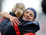 28 September 2008; Valerie Mulcahy, Cork, celebrates with a team-mate at the end of the game. TG4 All-Ireland Ladies Senior Football Championship Final, Cork v Monaghan, Croke Park, Dublin. Picture credit: David Maher / SPORTSFILE