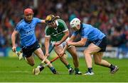 11 July 2015; Paul Browne, Limerick, in action against Ryan O'Dwyer, left, and Liam Rushe, Dublin. GAA Hurling All-Ireland Senior Championship, Round 2, Dublin v Limerick. Semple Stadium, Thurles, Co. Tipperary. Picture credit: Stephen McCarthy / SPORTSFILE