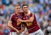 12 July 2015; Ray Connellan, left, and Dennis Corroon, Westmeath, dejected after the game. Leinster GAA Football Senior Championship Final, Westmeath v Dublin, Croke Park, Dublin. Picture credit: Cody Glenn / SPORTSFILE