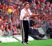 18 June 2000; Derry assistant manager Damien Cassidy on the sideline during the game. Derry v Antrim, Ulster Football Championship, Casement Park, Belfast. Picture credit: Oliver McVeigh / SPORTSFILE