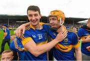 12 July 2015; Conor Kenny, left, and Lar Corbett, Tipperary, celebrate following their side's victory. Munster GAA Hurling Senior Championship Final, Tipperary v Waterford. Semple Stadium, Thurles, Co. Tipperary. Picture credit: Stephen McCarthy / SPORTSFILE