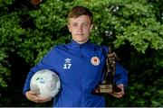 13 July 2015; Chris Forrester, St. Patrick's Athletic, who was named the SSE Airtricity Player of the Month Award for June 2015. Alsaa Sports Complex, Old Airport Road, Dublin. Picture credit: Piaras Ó Mídheach / SPORTSFILE