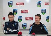 14 July 2015; UCD manager Collie O'Neill and player Gary O'Neill speaking at a UCD AFC Press Conference ahead of their Europa League Second Round tie against SK Slovan Bratislava on Thursday in Slovakia. UCD Bowl, Belfield, Dublin. Picture credit: Dáire Brennan / SPORTSFILE