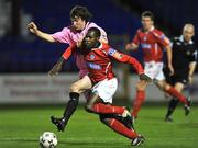 17 October 2008; Mark Rutherford, Shelbourne, in action against Patsy Malone, Wexford Youths. eircom League First Division, Shelbourne v Wexford Youths, Tolka Park, Dublin. Picture credit: David Maher / SPORTSFILE