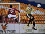 17 October 2008; Mark Rutherford, Shelbourne, in action against Pa Doyle, Wexford Youths. eircom League First Division, Shelbourne v Wexford Youths, Tolka Park, Dublin. Picture credit: David Maher / SPORTSFILE