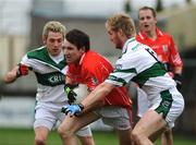 19 October 2008; Joseph O'Connor, Timahoe, in action against Craig Rogers, left, and Barry Fitzgerald, Portlaoise. Laois Senior Football Final, Portlaoise v Timahoe, O'Moore Park, Portlaoise, Co. Laois. Picture credit: Stephen McCarthy / SPORTSFILE