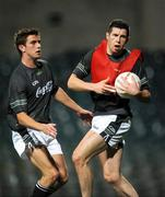 21 October 2008; Ireland captain Sean Cavanagh, Tyrone, and Colm Begley, Brisbane Lions and Laois, in action during Ireland International Rules squad training. 2008 International Rules tour, Subiaco Oval, Perth, Australia. Picture credit: Ray McManus / SPORTSFILE