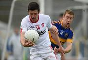 18 July 2015; Sean Cavanagh, Tyrone, in action against Brian Fox, Tipperary. GAA Football All-Ireland Senior Championship, Round 3B, Tipperary v Tyrone. Semple Stadium, Thurles, Co. Tipperary. Picture credit: Diarmuid Greene / SPORTSFILE