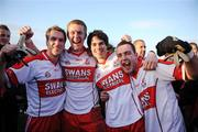 26 October 2008; Eire Og players Paul Cashin, Alan Curran, Cormac Mullins and Vinny Kavanagh celebrate after the final whistle. Carlow Senior Football Final Replay, Eire Og v Palatine, Dr Cullen Park, Carlow. Picture credit: Matt Browne / SPORTSFILE