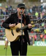 18 July 2015; Singer Ryan Sheridan entertains the crowd before the game. Munster GAA Football Senior Championship Final Replay, Kerry v Cork, Fitzgerald Stadium, Killarney, Co. Kerry. Picture credit: Brendan Moran / SPORTSFILE
