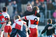 26 October 2008; Eire Og, Michael Hennessy and Paul cashin, celebrate at the final whistle against Palatine. Carlow Senior Football Final Replay, Eire Og v Palatine, Dr Cullen Park, Carlow. Picture credit: Maurice Doyle / SPORTSFILE