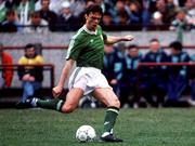 25 June 1990; David O'Leary of Republic of Ireland the FIFA World Cup 1990 Round of 16 match between Republic of Ireland and Romania at the Stadio Luigi Ferraris in Genoa, Italy. Photo by Ray McManus/Sportsfile