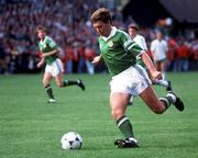 25 June 1990; Kevin Sheedy of Republic of Ireland the FIFA World Cup 1990 Round of 16 match between Republic of Ireland and Romania at the Stadio Luigi Ferraris in Genoa, Italy. Photo by Ray McManus/Sportsfile