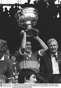 21 September 1980; Ger Power, Kerry captain, lifts the Sam Maguire cup after victory over Roscommon, All Ireland Football Final, Kerry V Roscommon, Croke Park. Picture credit: Ray McManus / SPORTSFILE