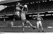 21 September 1980; Pat Spillane, Kerry, left, in action against Roscommon. All Ireland Football Final, Kerry V Roscommon, Croke Park. Picture credit: Ray McManus / SPORTSFILE