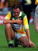 10 September 200; A dejected Ger Oakley, Offaly, after the final whistle. Kilkenny v Offaly, All Ireland Senior Hurling Championship Final, Croke Park, Dublin. Picture credit; Damien Eagers/SPORTSFILE