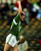 17 September 2000; Limerick goalscorer Mark Keane celebrates his goal. All Ireland U21 Hurling Championship Final, Limerick v Galway, Semple Stadium, Thurles, Co. Tipperary. Picture credit; Ray McManus/SPORTSFILE