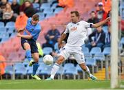 23 July 2015; Ryan Swan, UCD, has his shot at goal blocked by Martin Dobrotka, Slovan Bratislava. UEFA Europa League, Second Qualifying Round, Second Leg, UCD v Slovan Bratislava. UCD Bowl, Belfield, Dublin. Picture credit: Matt Browne / SPORTSFILE
