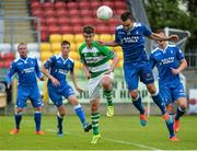 26 July 2015; Shane Tracy, Limerick FC in action against Cian Kavanagh, Shamrock Rovers. SSE Airtricity League, Premier Division, Shamrock Rovers v Limerick. Tallaght Stadium, Tallaght, Co. Dublin. Picture credit: Sam Barnes / SPORTSFILE