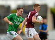25 July 2015; Ray Connellan, Westmeath, in action against Richard O'Callaghan, Fermanagh. GAA Football All-Ireland Senior Championship, Round 4A, Fermanagh v Westmeath. Kingspan Breffni Park, Cavan. Picture credit: Oliver McVeigh / SPORTSFILE