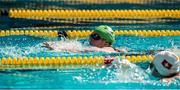 28 July 2015; Team Ireland's Lorraine Hession, a member of Team South Galway, from Turloughmore, Co Galway, on her way to winning a 4th place ribbon in the AQ 100M Freestyle Division F14 event at the Uytengsu Aquatics Center. Special Olympics World Summer Games, Los Angeles, California, United States. Picture credit: Ray McManus / SPORTSFILE